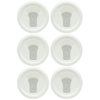 Corningware FM-22 1123827 20oz French White W/Truffle Grey Tab Round Mug Pop-Ins Vented Lid (6-Pack)
