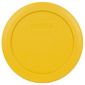 Pyrex (3) 7200-PC Butter Yellow, (2) 7201-PC Blue Spruce, & (2) 7402-PC Thistle Purple Food Storage Replacement Lids