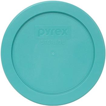 Pyrex (3) 7200-PC Turquoise, (2) 7201-PC Jet Grey, & (2) 7402-PC Orange Plastic Food Storage Replacement Lids
