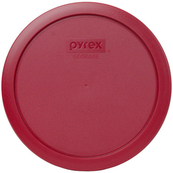 Pyrex (3) 7200-PC Sea Glass Green, (3) 7201-PC Jet Grey, & (3) 7402-PC Sangria Red Plastic Food Storage Replacement Lids