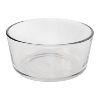 Pyrex (4) 7201 4 Cup Glass Bowls & (4) 7201-PC Blue Spruce Lids