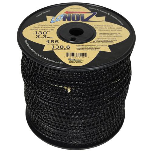 "LoNoiz LN130MSP 0.130"" 455ft Black Commercial String Trimmer Line"