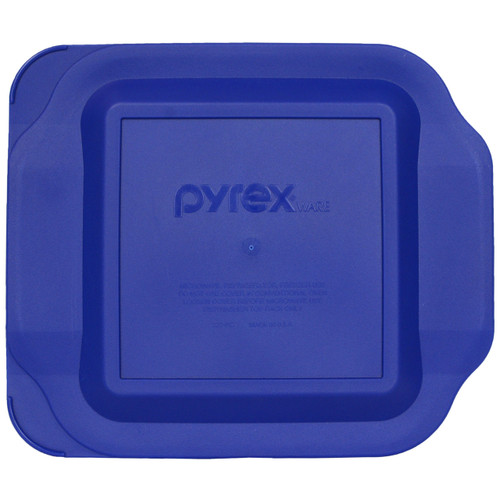 Pyrex 222-PC Blue Square Plastic Food Storage Replacement Lid Cover