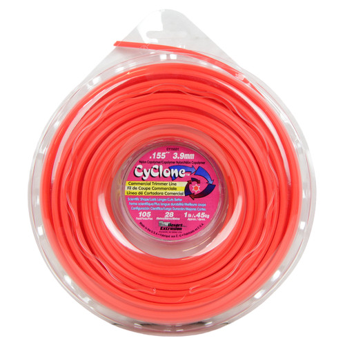 """Cyclone CY155D1 0.155"""" x 105ft Replacement Red Trimmer Line"""