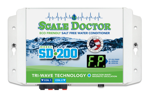 Scale Doctor SD-200 9V Dual Coil Salt Free Water Conditioner Unit