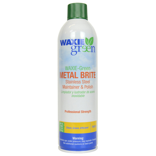 Waxie Green 16 Oz Metal Brite Stainless Steel Polish and Maintainer