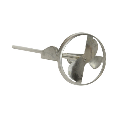 """Jiffy Mixer HS-1 1/4"""" Shaft 2 Gallon Stainless Steel Mixing Blade"""