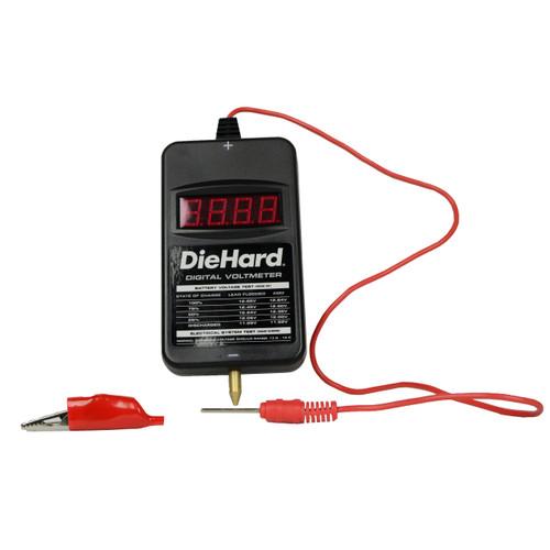 Die Hard Digital Portable Pocket Volt Meter for Car, Truck, RV, ATV Batteries