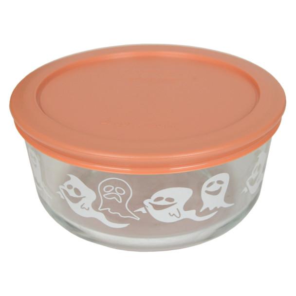 Pyrex 7201-PC 4 Cup, 950ml Decorative Bowl with Light Orange Lid