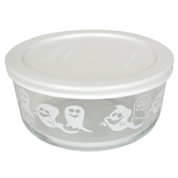 Pyrex 7201-PC 4 Cup, 950ml Decorative Bowl with White Lid
