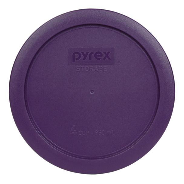 Pyrex 7201-PC Purple 4 Cup, 950ml Round Plastic Storage Lid