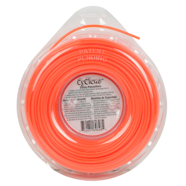 "Cyclone CY095D1/2 0.095"" 140ft Orange Commercial Trimmer Line"