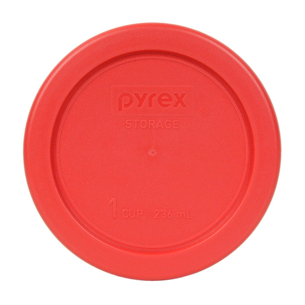 Pyrex 7202-PC Red 1 Cup, 236ml Round Plastic Replacement Lid