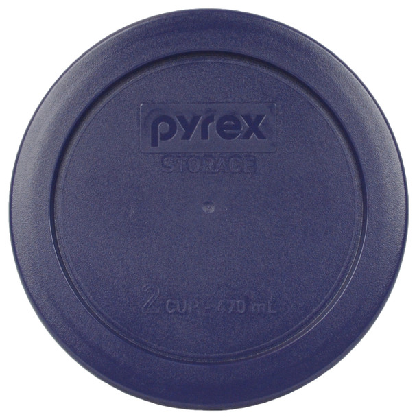 Pyrex 7200-PC Dark Blue 2 Cup, 470ml Round Plastic Replacement Storage Lid