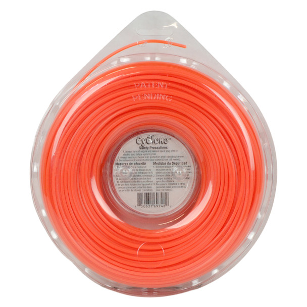 "Cyclone CY095D1 0.095"" 285ft Orange Commercial String Trimmer Line"