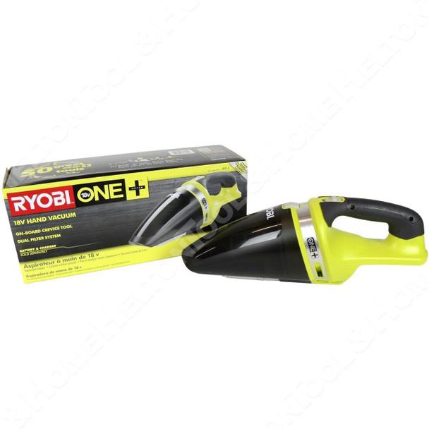 Ryobi P713 ONE+ 18V Lithium-Ion Cordless Hand Vacuum, Tool Only