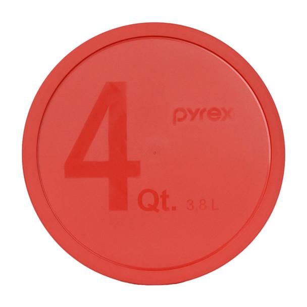 Pyrex 326-PC Red 4 Quart, 3.8 Litre Round Plastic Replacement Lid