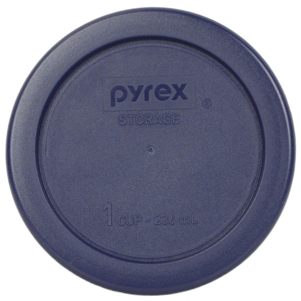 Pyrex 7202-PC Dark Blue 1 Cup, 236ml Round BPA Free Plastic Lid