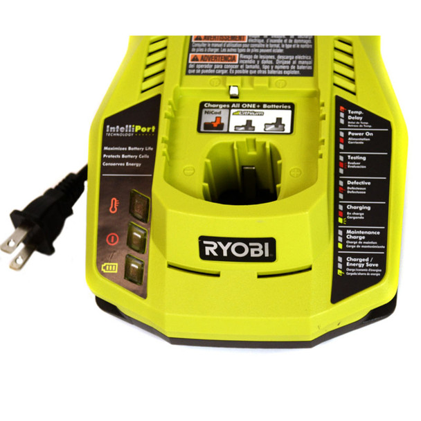 Ryobi P117 18V One+ NiCad/Li-Ion Duel Chemistry Battery Charger