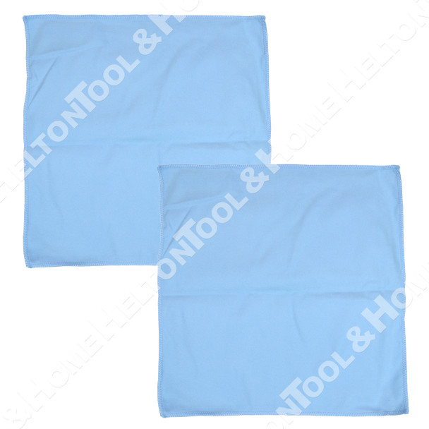 Waxie Blue Microfiber Polishing Cloth - 2 Pack