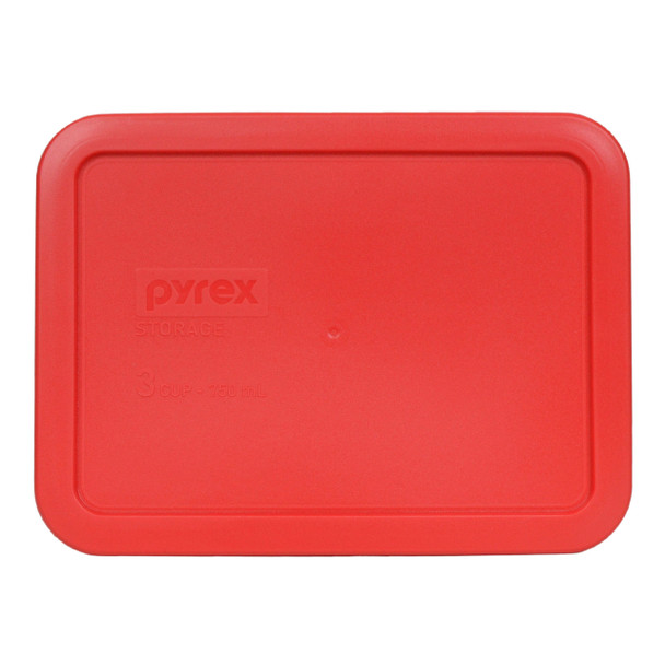 Pyrex 7210-PC Red 3 Cup, 750ml Plastic Storage Container Lid
