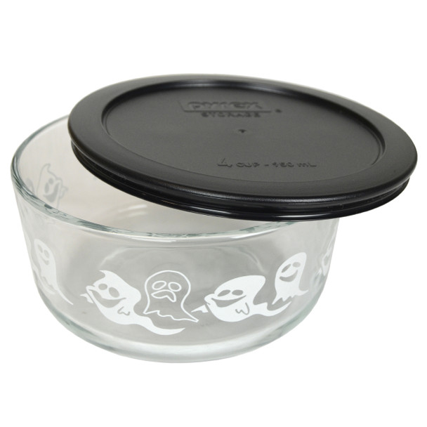 Pyrex 7201-PC 4 Cup, 950ml Decorative Bowl with Black Replacement Lid