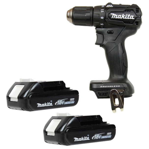 "Makita XFD11 18V 1/2"" Brushless Drill Driver and Two BL1820 18V Li-Ion Batteries"