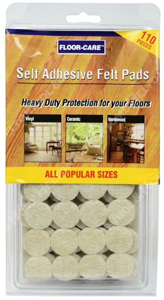 Floor Care 110pc Heavy Duty Self Adhesive Felt Pads