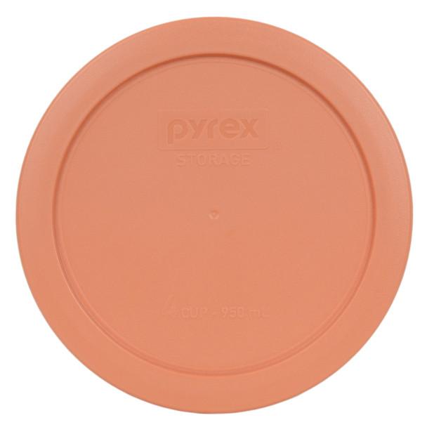 Pyrex 7201-PC Bahama Sunset Light Orange 4 Cup Round Plastic Lid