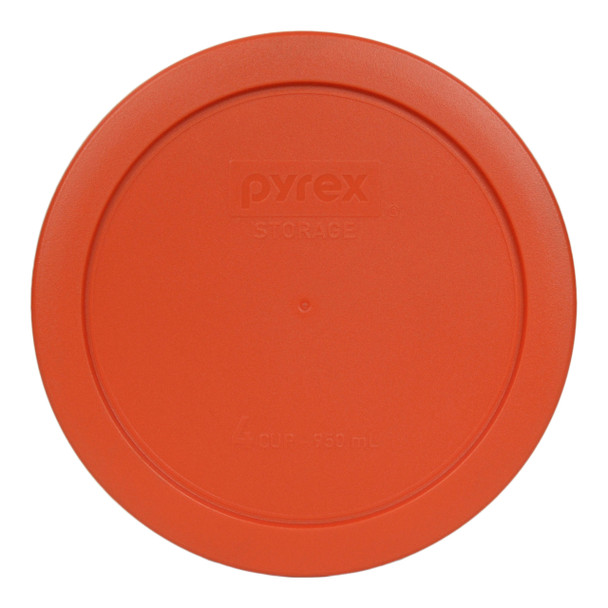 Pyrex 7201-PC Pumpkin Orange 4 Cup Round Plastic Replacement Lid