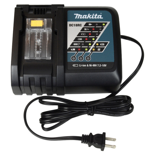Makita DC18RC 7.2 - 18V Lithium-Ion/NiMH Battery Charger