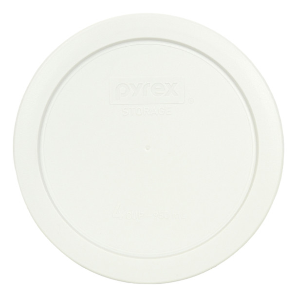 Pyrex 7201-PC White 4 Cup Plastic Round Replacement Lid