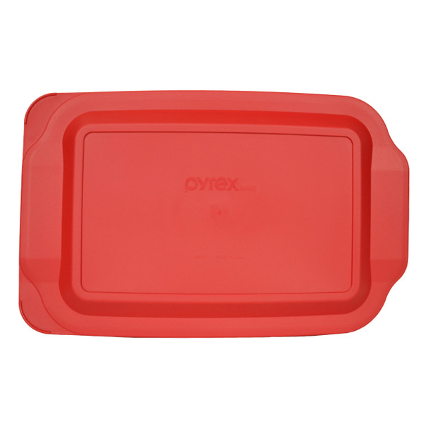 Pyrex 233-PC Red Rectangle Plastic Food Storage Replacement Lid