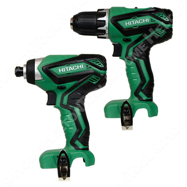(1) Hitachi DS10DFL2 12V Drill Driver and (1) Hitachi WH10DFL2 12V Impact Driver