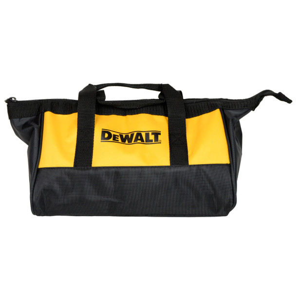 "Dewalt Heavy Duty Black/Yellow Nylon 11"" x 9"" Contractor Tool Bag"