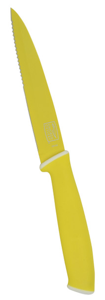 "Chicago Cutlery Vivid Yellow 5"" Stainless Steel  Non-Stick Utility Knife"