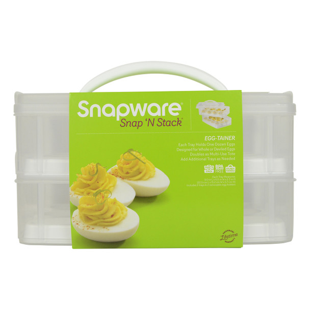 Snapware 2-Layer Snap 'N Stack Food Storage with Egg Holder Trays