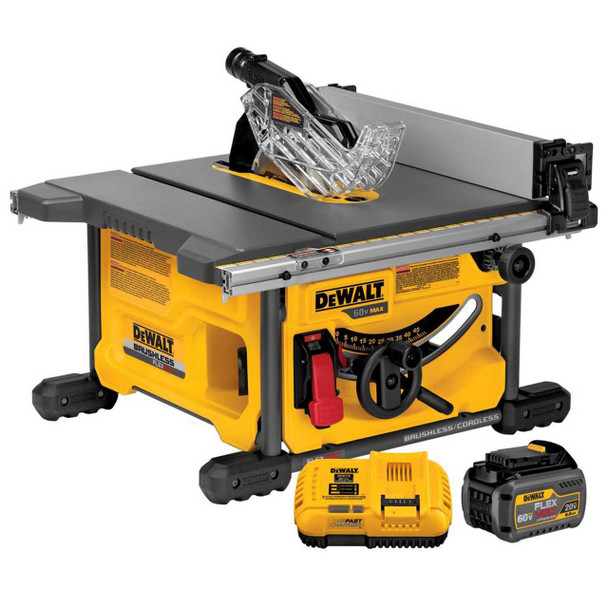 "Dewalt DCS7485T1 60V FlexVolt Cordless Brushless 8-1/4"" Table Saw Kit"