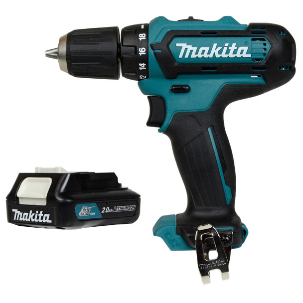 Makita FD05 drill driver and BL1021B battery pack