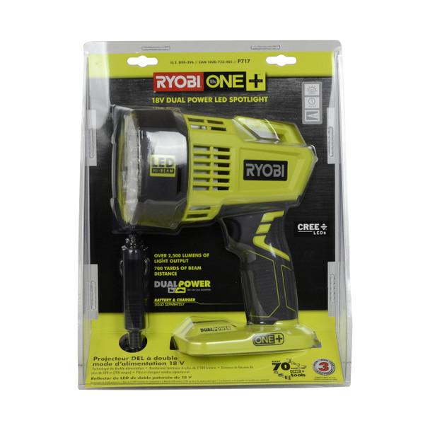Ryobi P717 ONE+ cordless flashlight