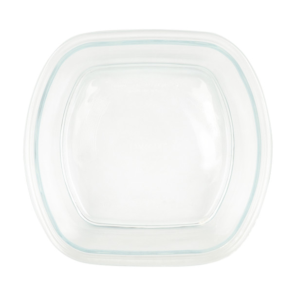 Pyrex Pro Storage Deluxe 8100 4-1/2 Cup Square Clear Glass Bowl