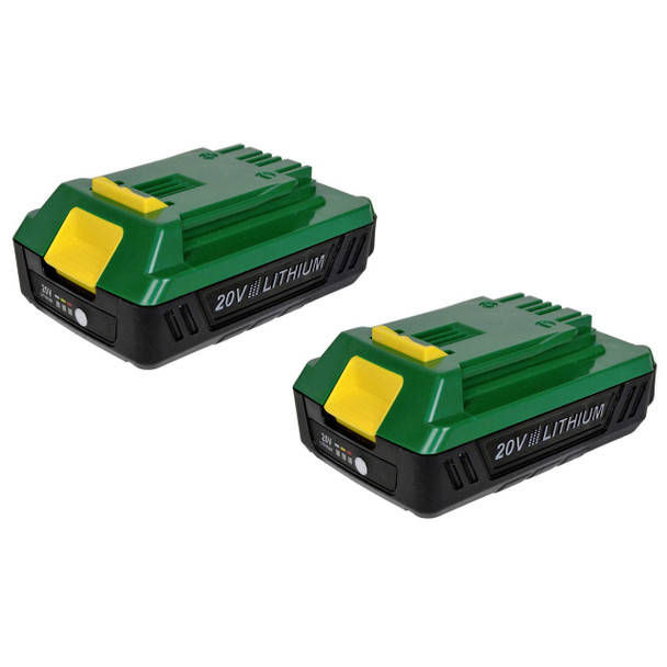 2 pack Weed Eater WE20VRB 20 volt lithium ion compact batteries
