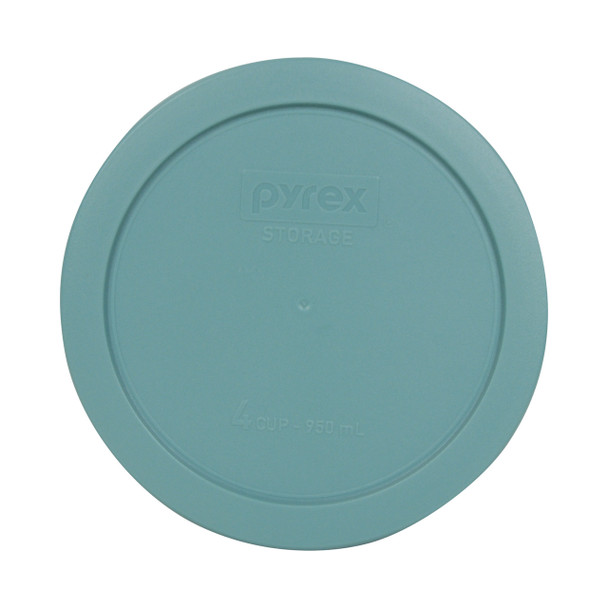 Pyrex 7201-PC Turquoise 4 Cup, 950ml Round Plastic Replacement Lid