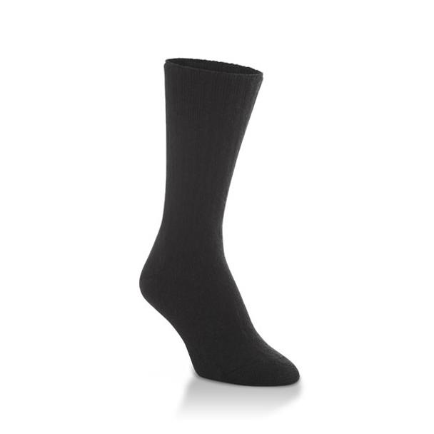 World's Softest Classic Collection Black Large Crew Cut Socks