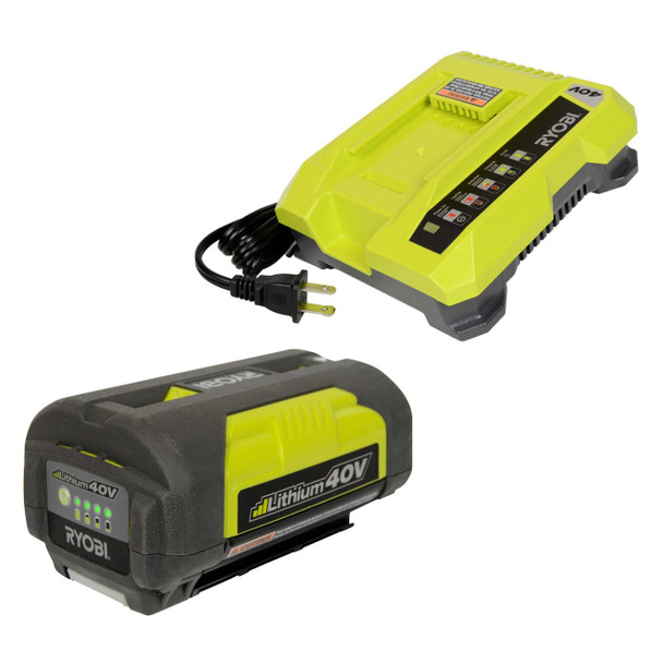 Ryobi Reconditioned OP401 40V Charger & OP4030 3.0Ah Li-Ion Battery