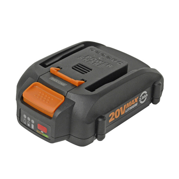 Worx WA3575 20V Max Lithium Battery with Fuel Gauge