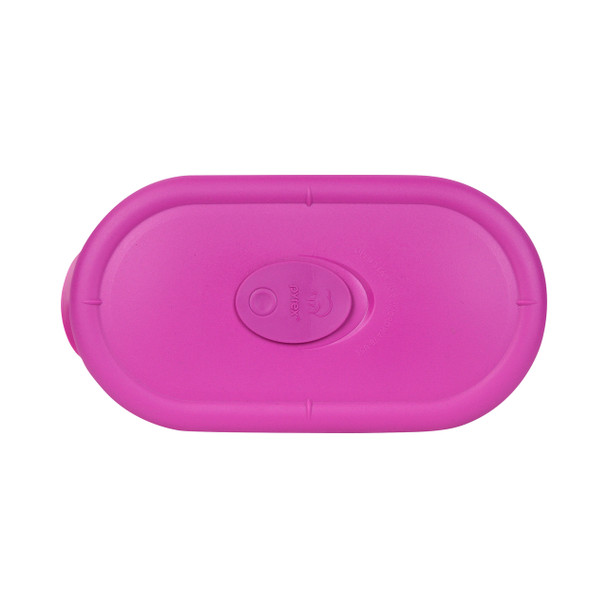 Pyrex 8300-VPC Oblong Berry Pink Vented Lid for 2-Cup Divided Glass Dish
