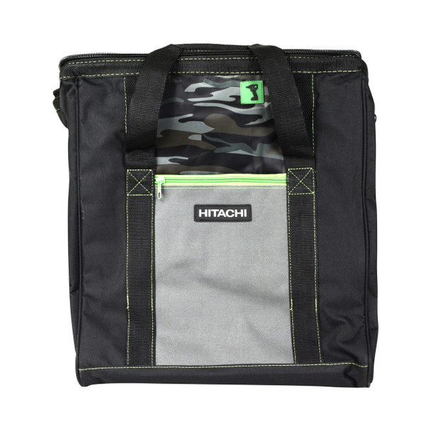"""Hitachi 16"""" x 15"""" x 12"""" Wide Mouth Camouflage Tool Bag"""
