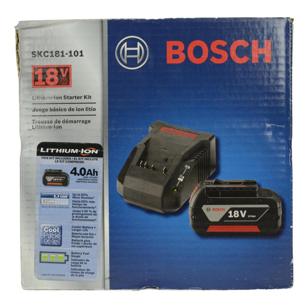 Bosch SKC181-101 2pc 18V Li-Ion FatPack Battery and Charger Starter Kit