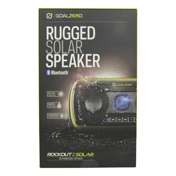 Goal Zero Water-Resistant Outdoor Rechargeable Speaker w/ Solar Panel (Green)